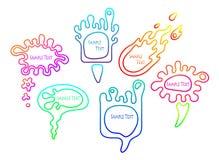 Sistema colorido liso de la burbuja del discurso libre illustration