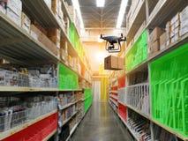 Sistema com?n industrial del almacenamiento de los productos del almacenamiento por el abej?n sin tripulaci?n fotografía de archivo libre de regalías