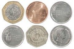 Sistema completo de la moneda de Jordania foto de archivo