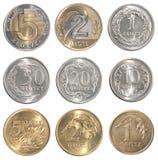 Sistema completo de la moneda de Polonia fotografía de archivo libre de regalías