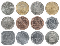 Sistema completo de la moneda de Sri Lanka fotos de archivo