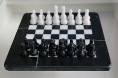 Sistema completo del ajedrez de mármol Imagen de archivo