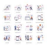 Sistema conceptual plano de los ejemplos stock de ilustración
