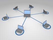 Sistema conectado de computadores Fotografia de Stock