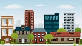 Sistema constructivo de la dependencia arquitectónica ap de la construcción de las casas Imagenes de archivo
