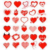 Sistema, corazón y amor grandes del vector Foto de archivo libre de regalías