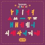 Sistema coreano del alfabeto Imagen de archivo