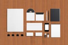 Sistema corporativo en blanco de la identificación Fotos de archivo
