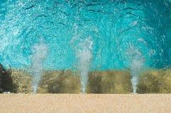 Sistema corrente dell'acqua nella piscina immagini stock libere da diritti