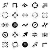 Sistema creativo del icono de la flecha Imagen de archivo libre de regalías