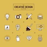 Sistema creativo del icono del vector Fotografía de archivo libre de regalías
