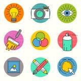 Sistema creativo del icono del vector Foto de archivo libre de regalías