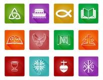 Sistema cristiano del icono Foto de archivo libre de regalías