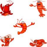 Sistema crustáceo de la colección de la historieta libre illustration