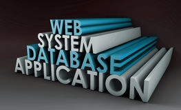 Sistema da aplicação web Fotos de Stock Royalty Free