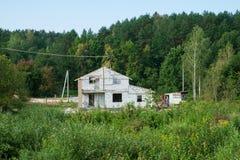 SISTEMA DA CONSTRUÇÃO DE IZOBLOK Construção do Br branco inacabado Fotografia de Stock Royalty Free