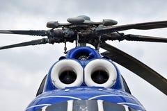 Sistema da fuselagem e do rotor do helicóptero imagem de stock