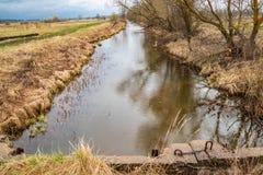 Sistema da reutiliza??o da terra para a irriga??o dos campos fotos de stock