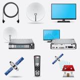 Sistema da televisão satélite Imagem de Stock