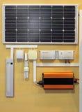 Sistema das energias solares Imagens de Stock