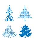 Sistema de árboles de navidad Foto de archivo libre de regalías