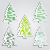 Sistema de árboles de navidad libre illustration