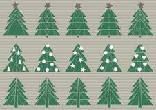 Sistema de árboles de navidad de la papiroflexia libre illustration