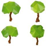 Sistema de árboles geométricos del vector Fotografía de archivo