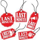 Sistema de última hora de la etiqueta, ejemplo del vector Fotografía de archivo libre de regalías