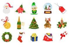 Sistema de Año Nuevo y de la Navidad Imagenes de archivo