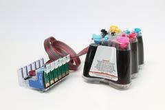 Sistema de abastecimiento continuo de la tinta Foto de archivo libre de regalías