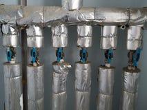 Sistema de abastecimiento del agua del condominio en la escena 2 de los planos del panel Imágenes de archivo libres de regalías