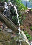 Sistema de abastecimiento del agua en el pueblo CatCat Foto de archivo libre de regalías