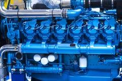 Sistema de abastecimiento para el combustible diesel, bloque limpio del motor, detalle del motor diesel Fotografía de archivo libre de regalías