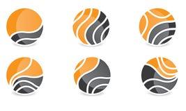 Sistema de Abstract Sphere Logo Rounded Globle Circular Logo Template Modern Company Logo Symbol Vector Fotografía de archivo libre de regalías