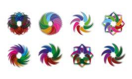 Sistema de Abstract Sphere Logo Rounded Globle Circular Logo Template Modern Company Logo Symbol Vector Stock de ilustración