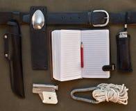 Sistema de accesorios del viaje Foto de archivo libre de regalías