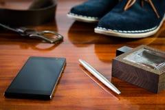 Sistema de accesorios para hombre del número Fotografía de archivo libre de regalías
