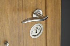 Sistema de acero de la cerradura de puerta Fotografía de archivo libre de regalías