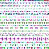 Sistema de adornos étnicos con los elementos multicolores Fotografía de archivo