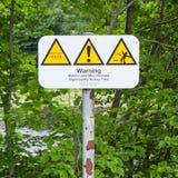 Sistema de advertencias típicas de la natación del agua abierta Fotos de archivo libres de regalías