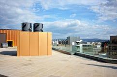 Sistema de aire acondicionado industrial imagen de archivo