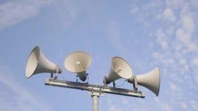 Sistema de alarma del altavoz almacen de metraje de vídeo