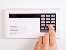 Sistema de alarme Home fotos de stock royalty free