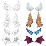 Sistema de alas stock de ilustración