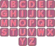 Sistema de alfabetos ingleses Imagenes de archivo