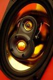 Sistema de altavoz ruidoso sano auto Imagen de archivo libre de regalías