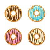 Sistema de anillos de espuma esmaltados Foto de archivo libre de regalías