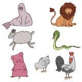 Animales salvajes ilustración del vector