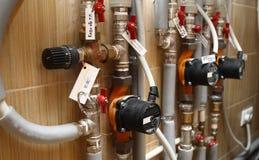 Sistema de aquecimento da casa Foto de Stock Royalty Free